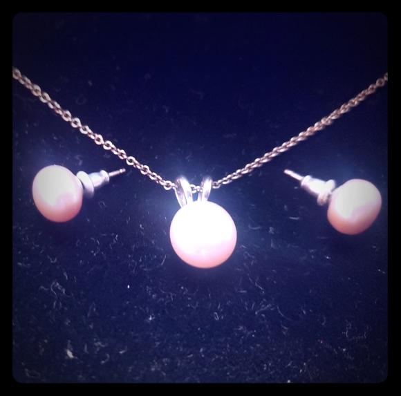 Pearl Jewelry - Set pink pearls